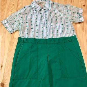 Vintage Girl Scout Uniform    shirt and short set